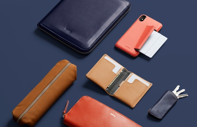 Bellroy leather goods.