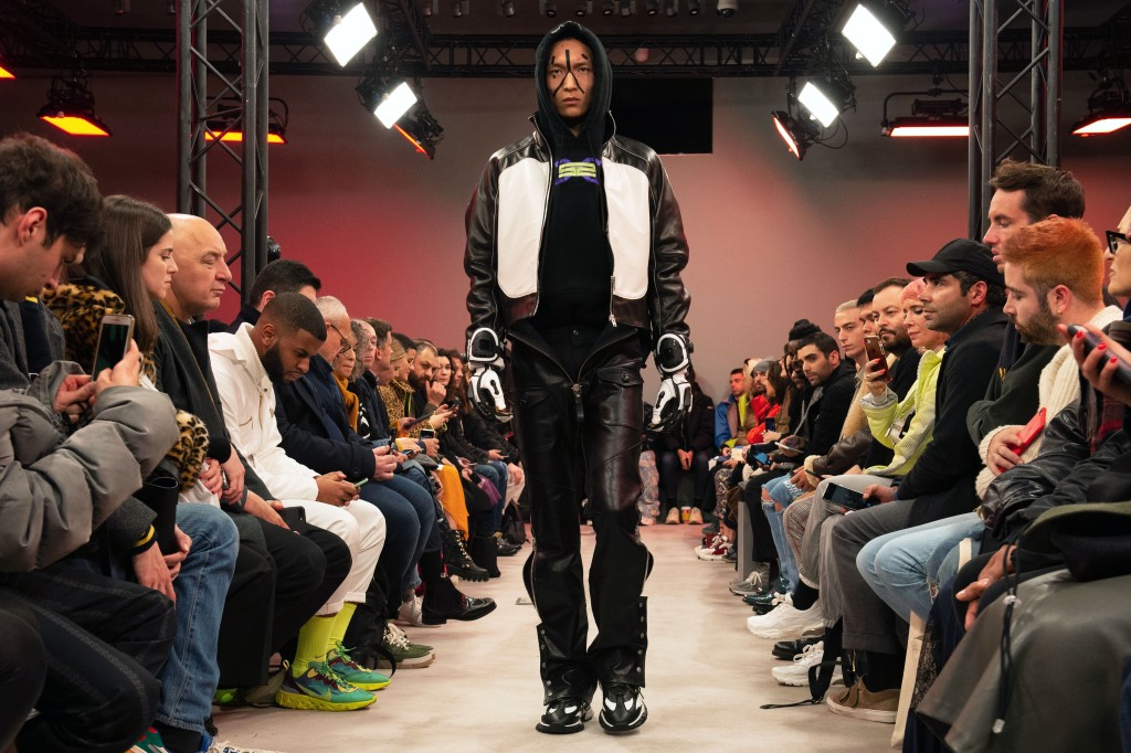 A model presents a creation from the Fall/ Winter 2019/2020 Men's collection by Chinese designer Shangguan Zhe for Sankuanz during the Paris Fashion Week, in Paris, France, 15 January 2019. The presentation of the Fall/Winter 2019/20 menswear collections runs from 15 to 20 January 2019.Sankuanz - Runway - Paris Men's Fashion Week F/W 2019/20, France - 15 Jan 2019