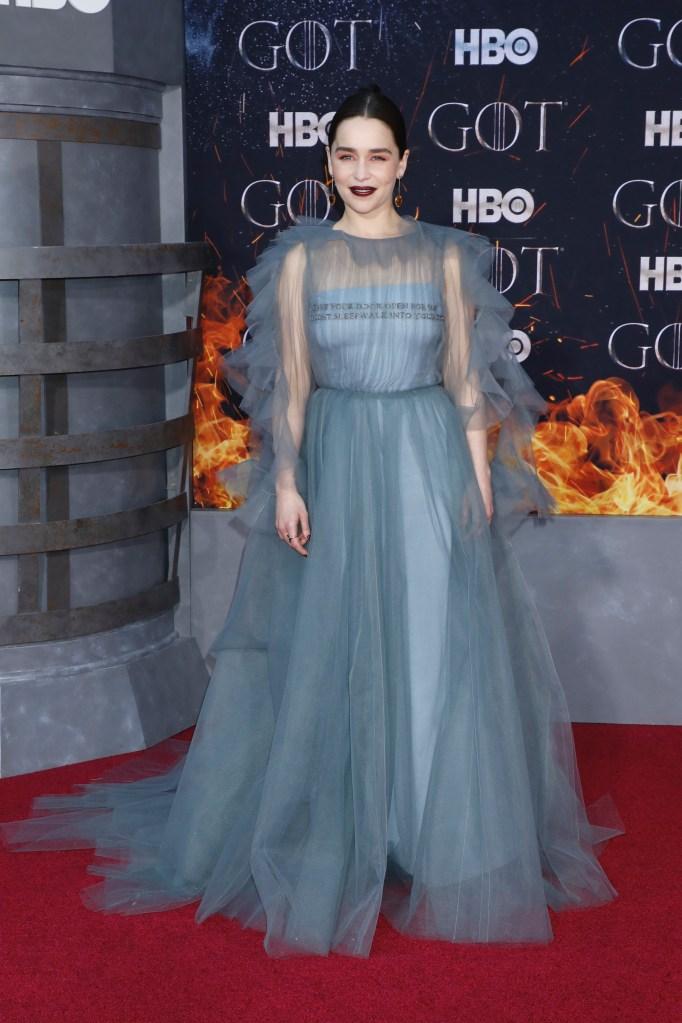 Emilia Clarke'Game of Thrones' season eight premiere, Arrivals, New York, USA - 03 Apr 2019