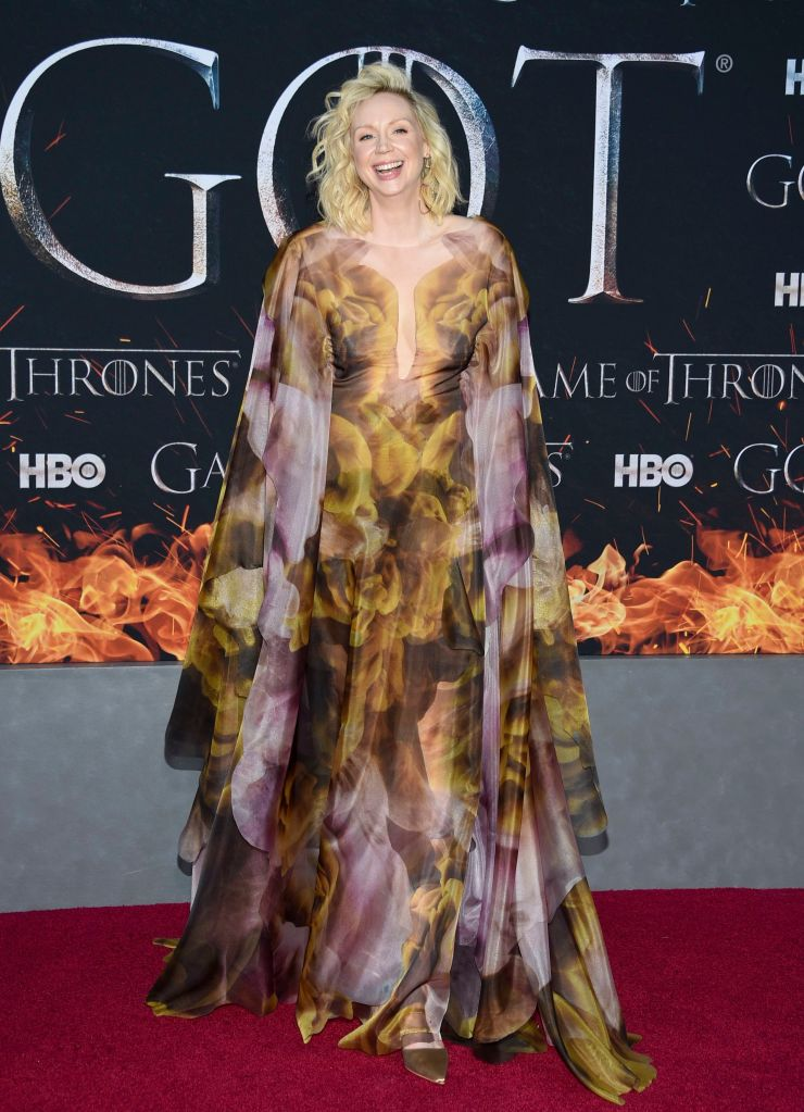 """Gwendoline Christie attends HBO's """"Game of Thrones"""" final season premiere at Radio City Music Hall, in New YorkNY Premiere of """"Game of Thrones"""" Final Season, New York, USA - 03 Apr 2019"""