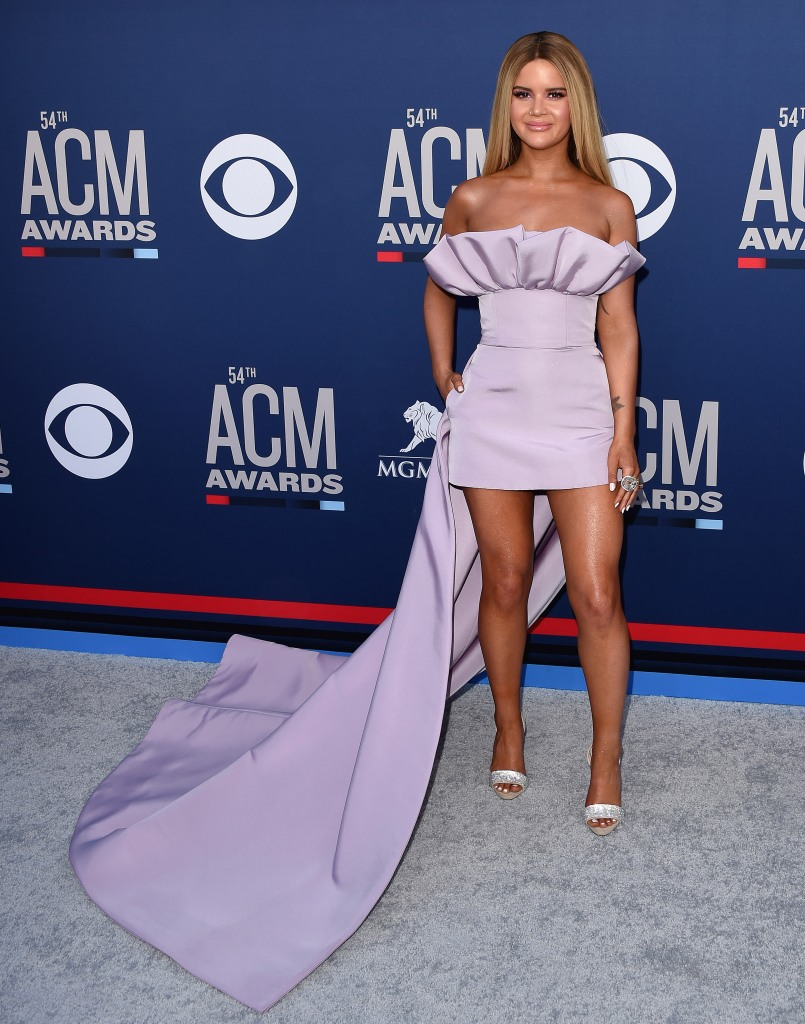 Maren Morris54th Annual ACM Awards, Arrivals, Grand Garden Arena, Las Vegas, USA - 07 Apr 2019 Wearing Christian Siriano Same Outfit as Catwalk Model *10100211az