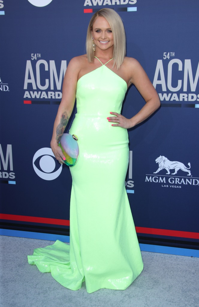 Miranda Lambert54th Annual ACM Awards, Arrivals, Grand Garden Arena, Las Vegas, USA - 07 Apr 2019Wearing Alex Perry