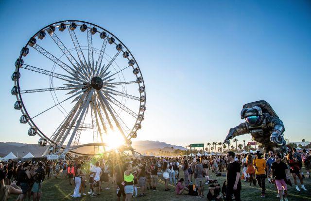Festival goers attend the Coachella Music & Arts Festival at the Empire Polo Club, in Indio, Calif2019 Coachella Music And Arts Festival - Weekend 1 - Day 1, Indio, USA - 12 Apr 2019