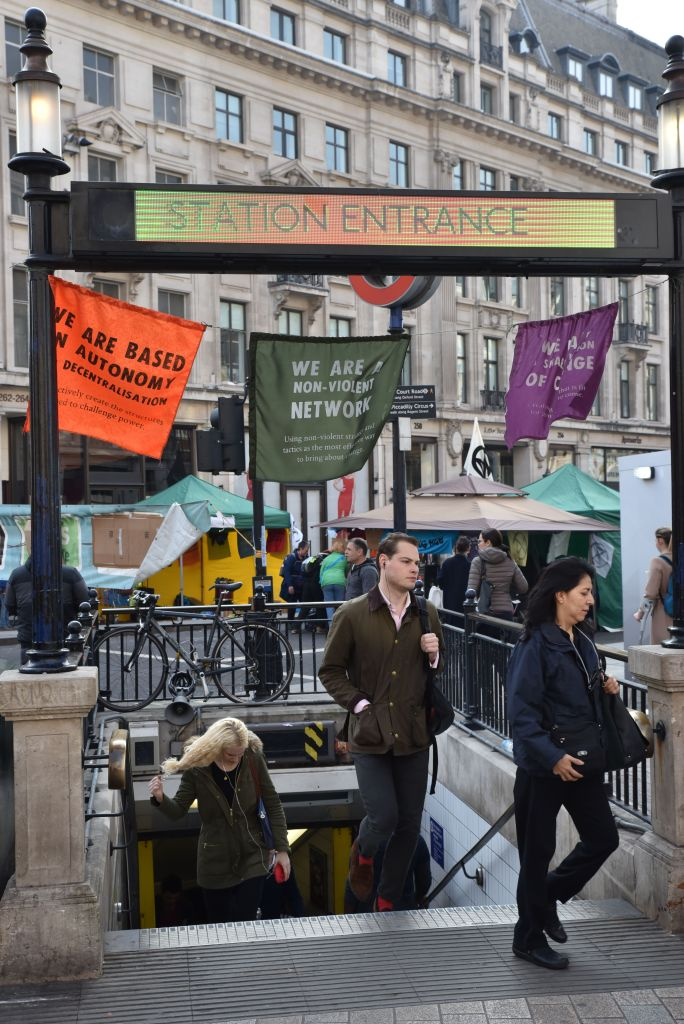 The Extinction Rebellion climate change protesters start the third day of their protests.Extinction Rebellion climate change protest, Oxford Circus, London, UK. 17th April 2019.