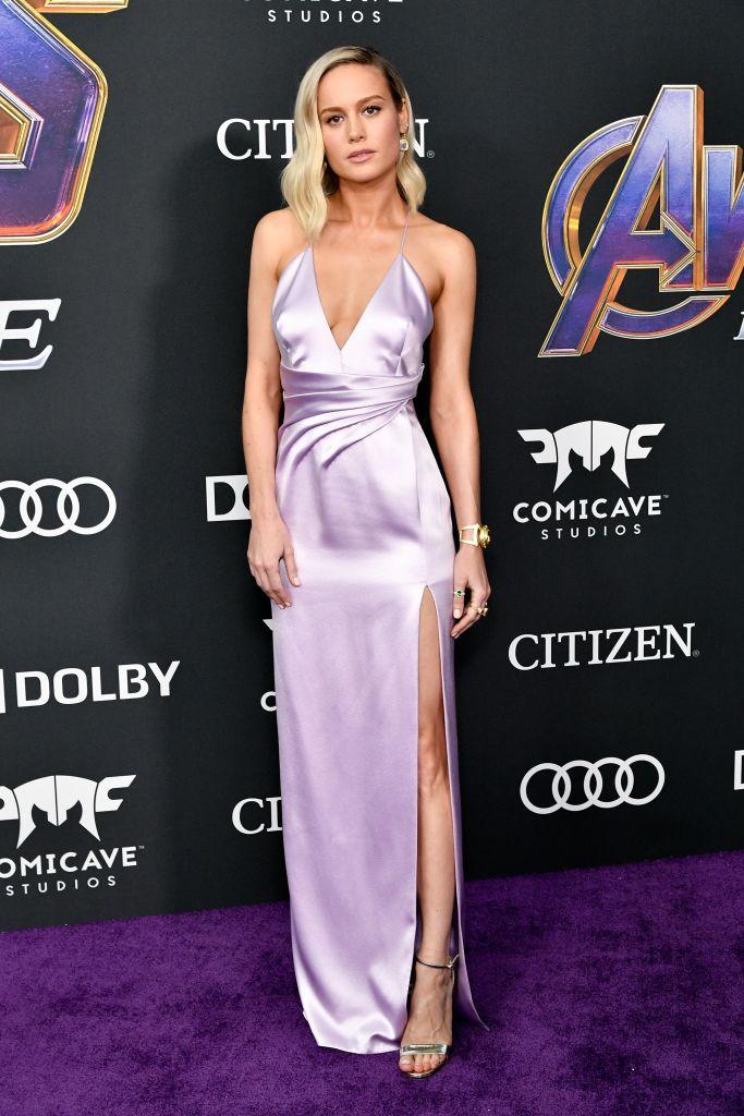 Brie Larson'Avengers: Endgame' Film Premiere, Arrivals, LA Convention Center, Los Angeles, USA - 22 Apr 2019Wearing Celine, Custom, Shoes by Christian Louboutin