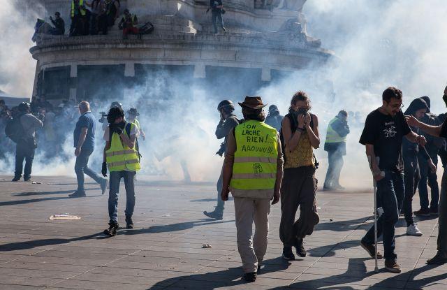 About 6000 Gilets Jaunes protesters demonstratedYellow Vest Protests, Paris, France - 20 Apr 2019