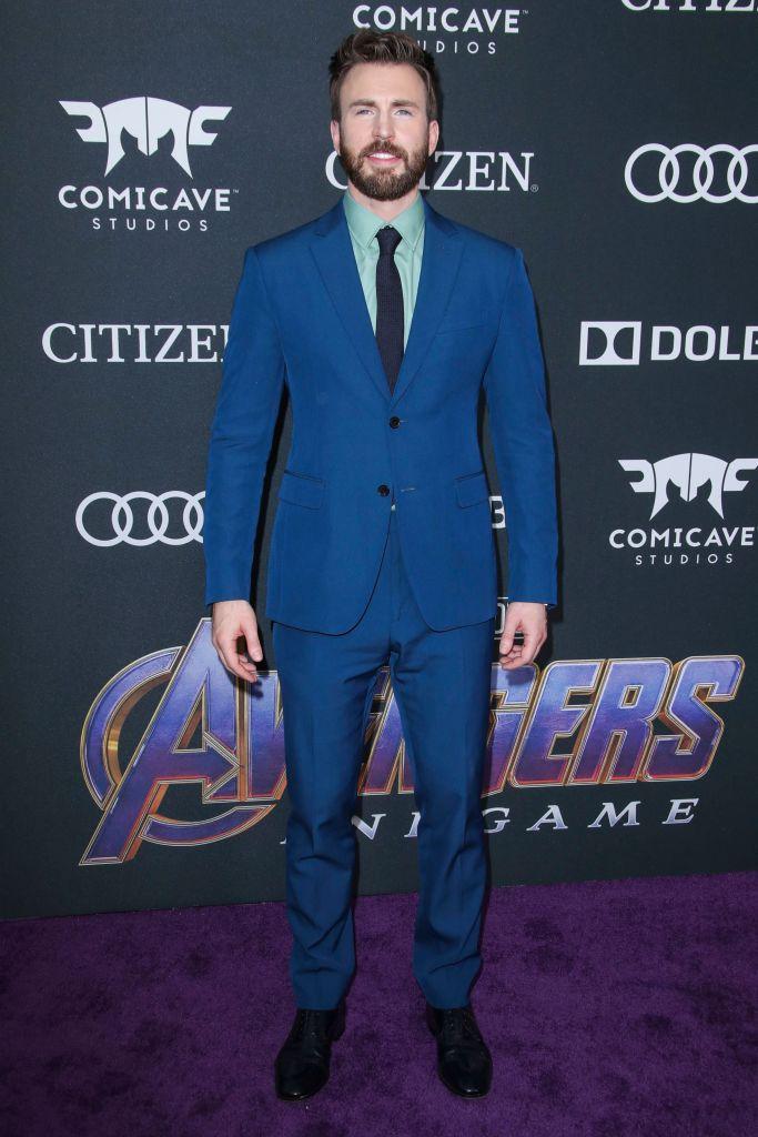 Chris Evans'Avengers: Endgame' Film Premiere, Arrivals, LA Convention Center, Los Angeles, USA - 22 Apr 2019Wearing Salvatore Ferragamo, Custom