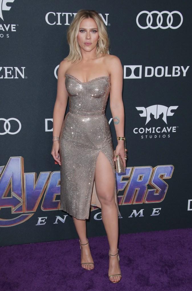 Scarlett Johansson'Avengers: Endgame' Film Premiere, Arrivals, LA Convention Center, Los Angeles, USA - 22 Apr 2019Wearing Versace