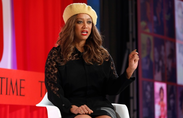 Model and Founder of Modelland, Tyra Banks, speaks during the TIME 100 Summit, in New YorkTIME 100 Banks, New York, USA - 23 Apr 2019