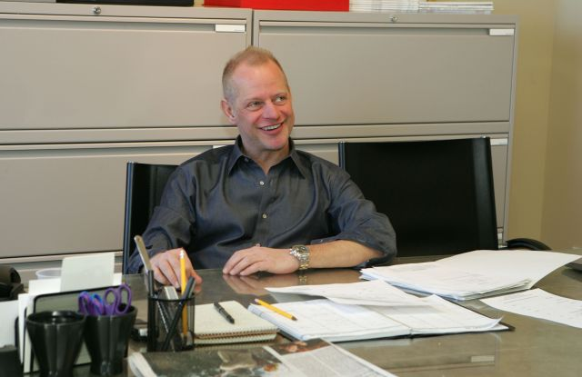 Fashion show producer Kevin Krier at his office, New York City.Kevin Krier, New York
