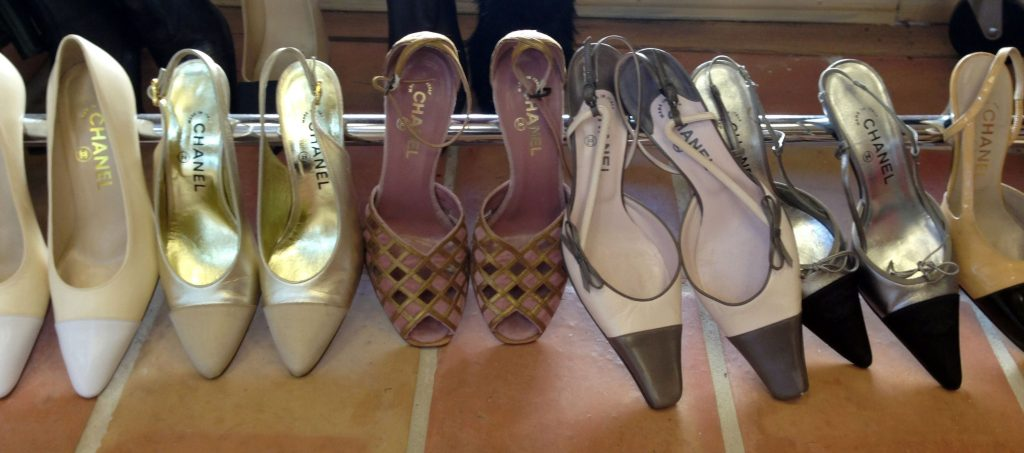 Classic Collections Shows a selection Chanel shoes at the Classic Collections consignment store in Palm Beach, Fla. The store has a wide variety of clothes, shoes, pursues, fine and costume jewelryTravel Consignment Couture, Palm Beach, USA