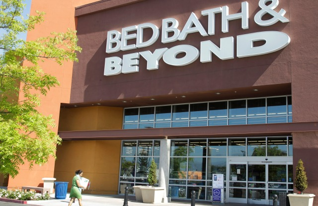 A Bed Bath & Beyond customer enters a store in Mountain View, Calif., . Bed Bath & Beyond Inc. said Wednesday it agreed to buy smaller home goods retailer Cost Plus Inc. for about $495 million, following a collaboration that put a specialty food department in some Bed Bath & Beyond stores showed promiseBed Bath Beyond Acquisition, Mountain View, USA