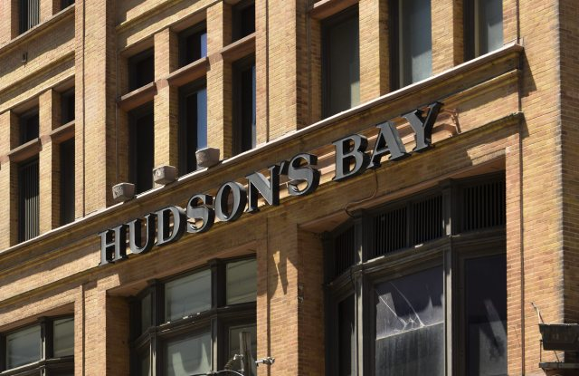 A View of the Hudson's Bay Company Head Office and Main Store in Toronto Canada 15 June 2015 Hudson's Bay Announced on 15 June That It Has Deal to Buy the Kaufhof Chain of Department Stores in Germany Canada TorontoCanada Hudsons Bay Company - Jun 2015