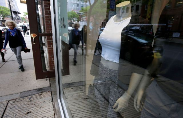 Lululemon Athletica apparel is displayed on mannequins in a storefront at a Lululemon Athletica store location on Newbury Street in Boston. Lululemon Athletica Inc. reports earnings Wednesday, Dec. 6, 2017Earns Lululemon Athletica, Boston, USA - 05 Jun 2017