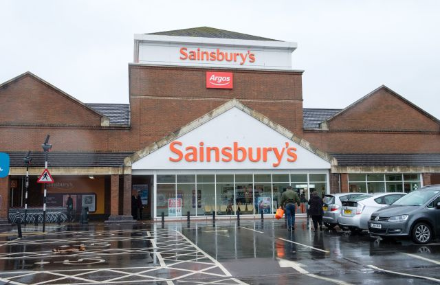 Exterior of a Sainsbury's superstore, West LondonASDA and Sainsbury's merger talks, London, UK - 30 Apr 2018British supermarket chains Asda and Sainsbury's are reported to be in advanced talks for a possible merger.