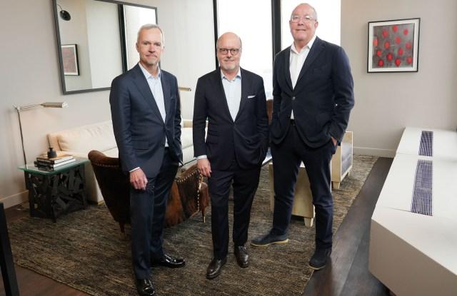 John Dermott Mitchell, Robert Burke and Ron Frasch