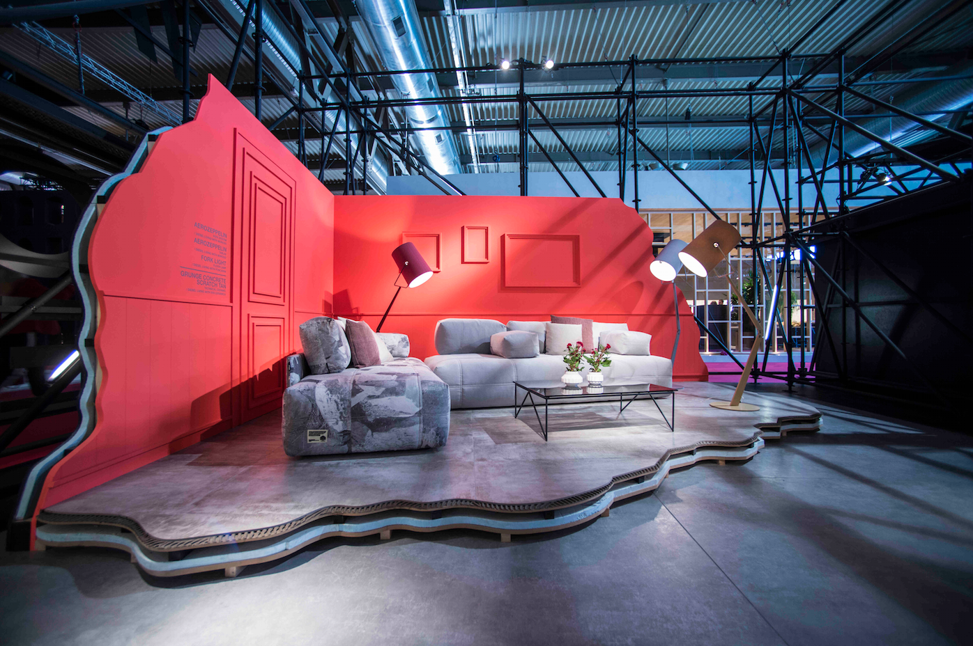Diesel Living's booth at Salone del Mobile.