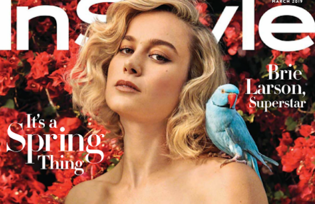 Brie Larson on InStyle's March cover.