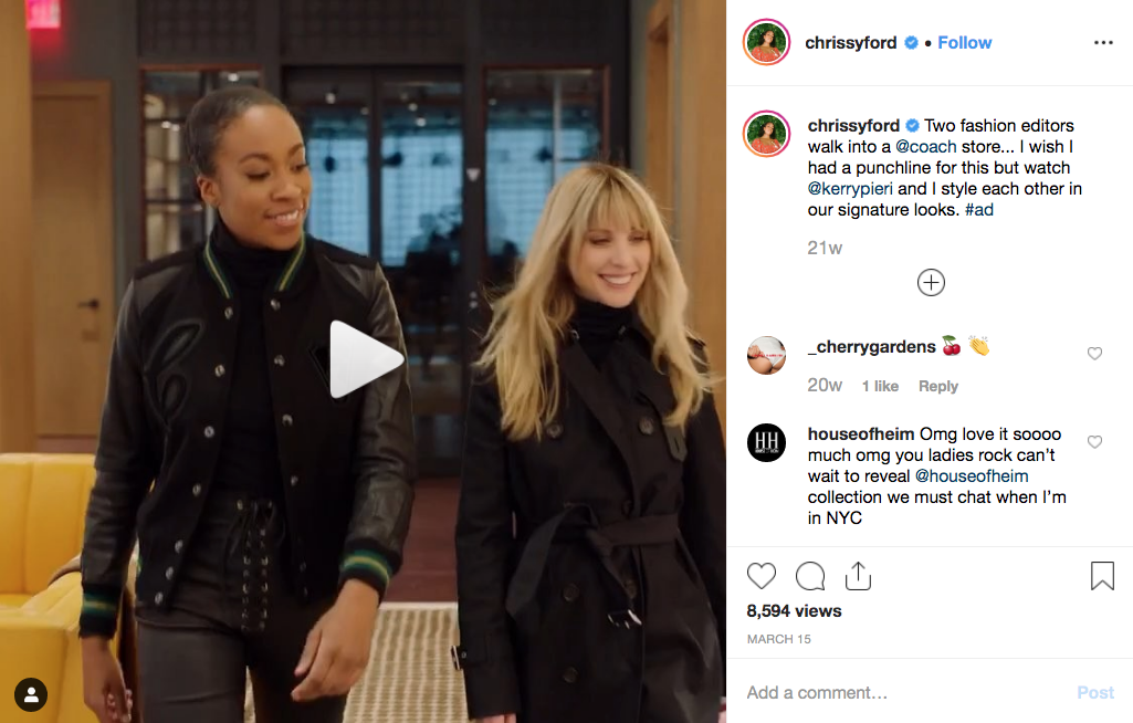A sponsored post from Chrissy Ford, Harper's Bazaar's special projects director of talent and social.