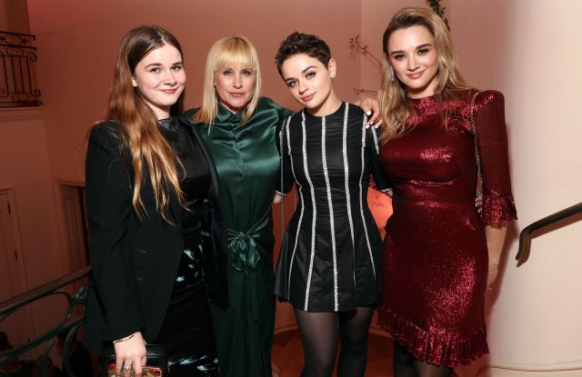 Harlow Jane-Arquette, Patricia Arquette. Joey King and Hunter KingHotel Vivier Los Angeles Cocktail Party, Los Angeles, USA - 02 Apr 2019