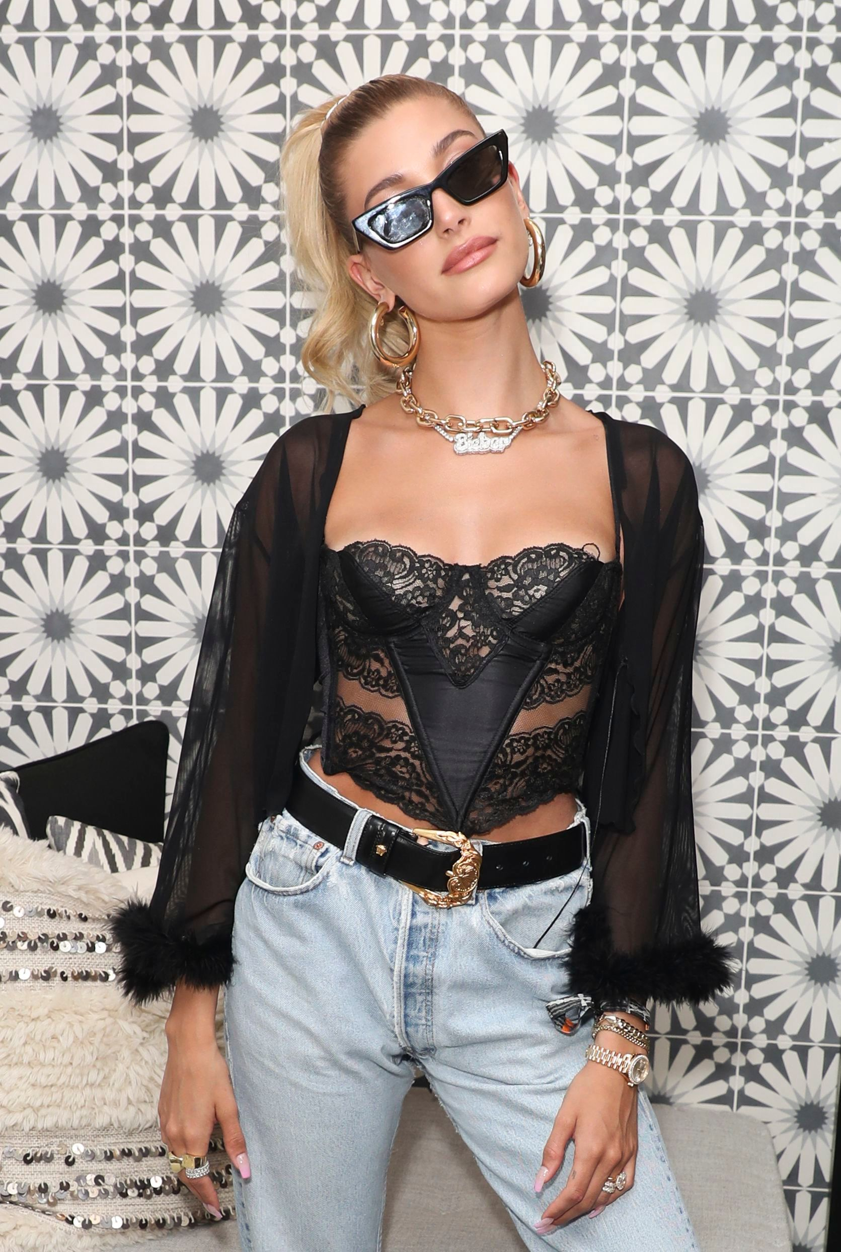 Hailey BieberLevi's Brunch, Coachella Valley Music and Arts Festival, Weekend 1, Day 2, Indian Wells, USA - 13 Apr 2019