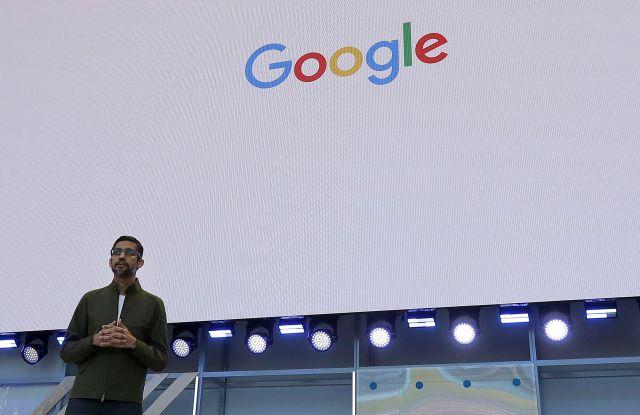 Google CEO Sundar Pichai speaks at the Google I/O conference in Mountain View, CalifGoogle Showcase, Mountain View, USA - 08 May 2018