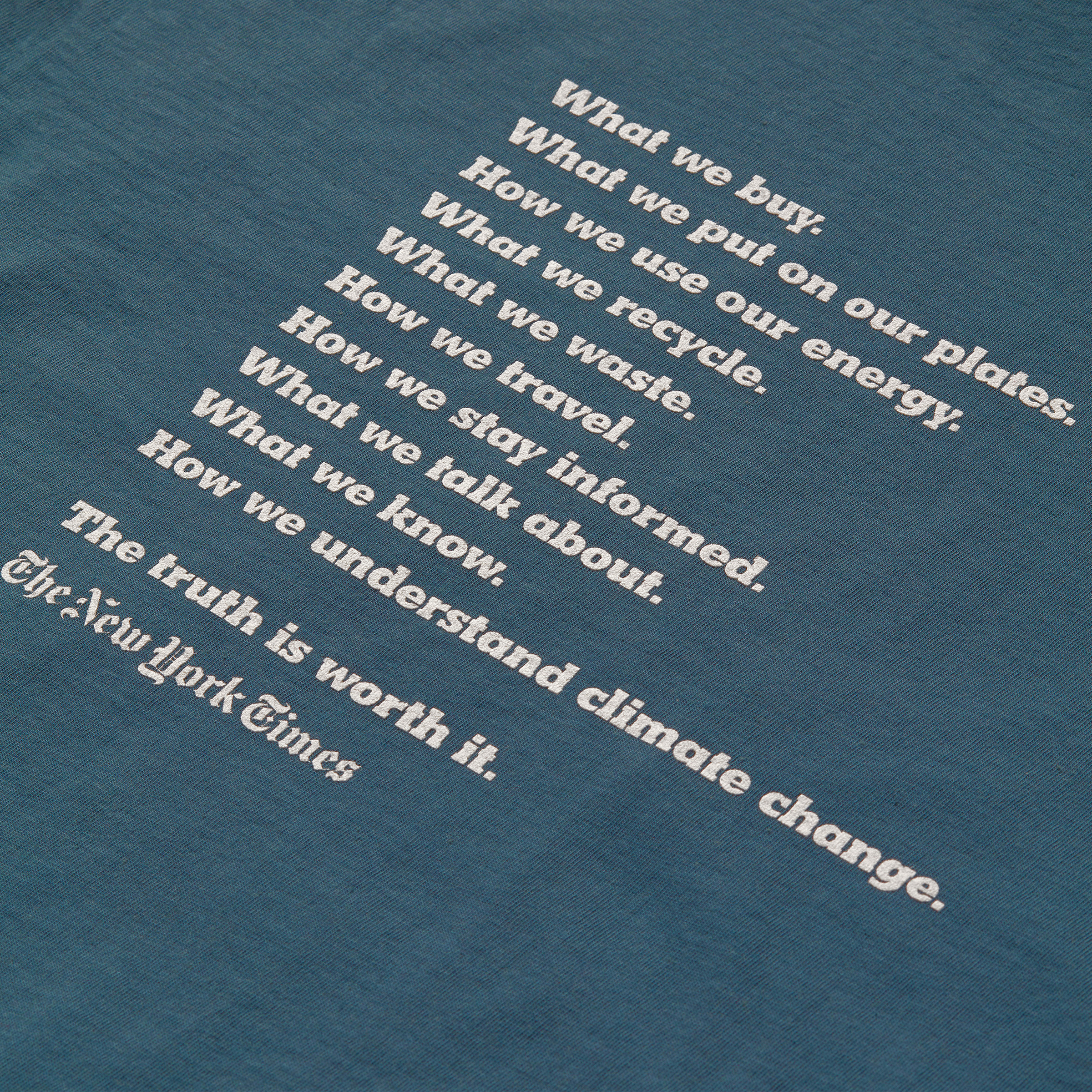 The back of Everlane's new T-shirt for The New York Times.