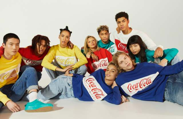 Some looks from the Tommy Jeans Coca-Cola capsule collection.
