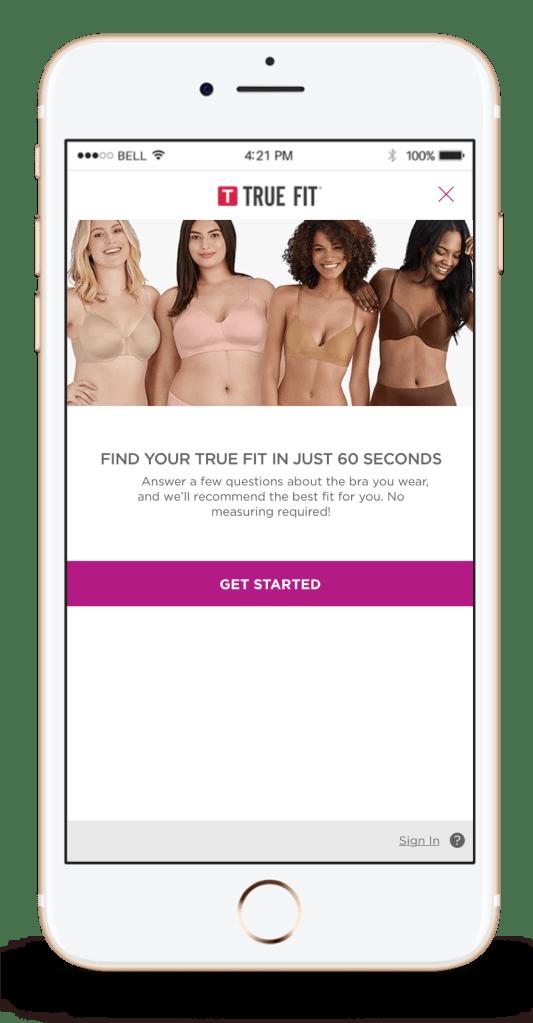 true fit bra e-commerce intimates