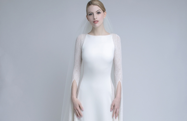 A look from Marc Bouwer's new wedding dress collection.