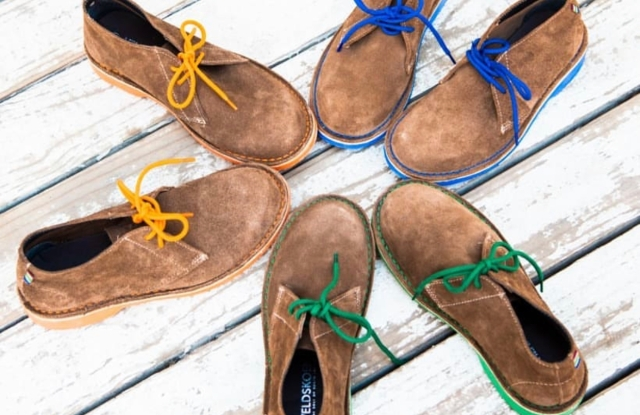 Veldskoen footwear is based on a traditional South African design.