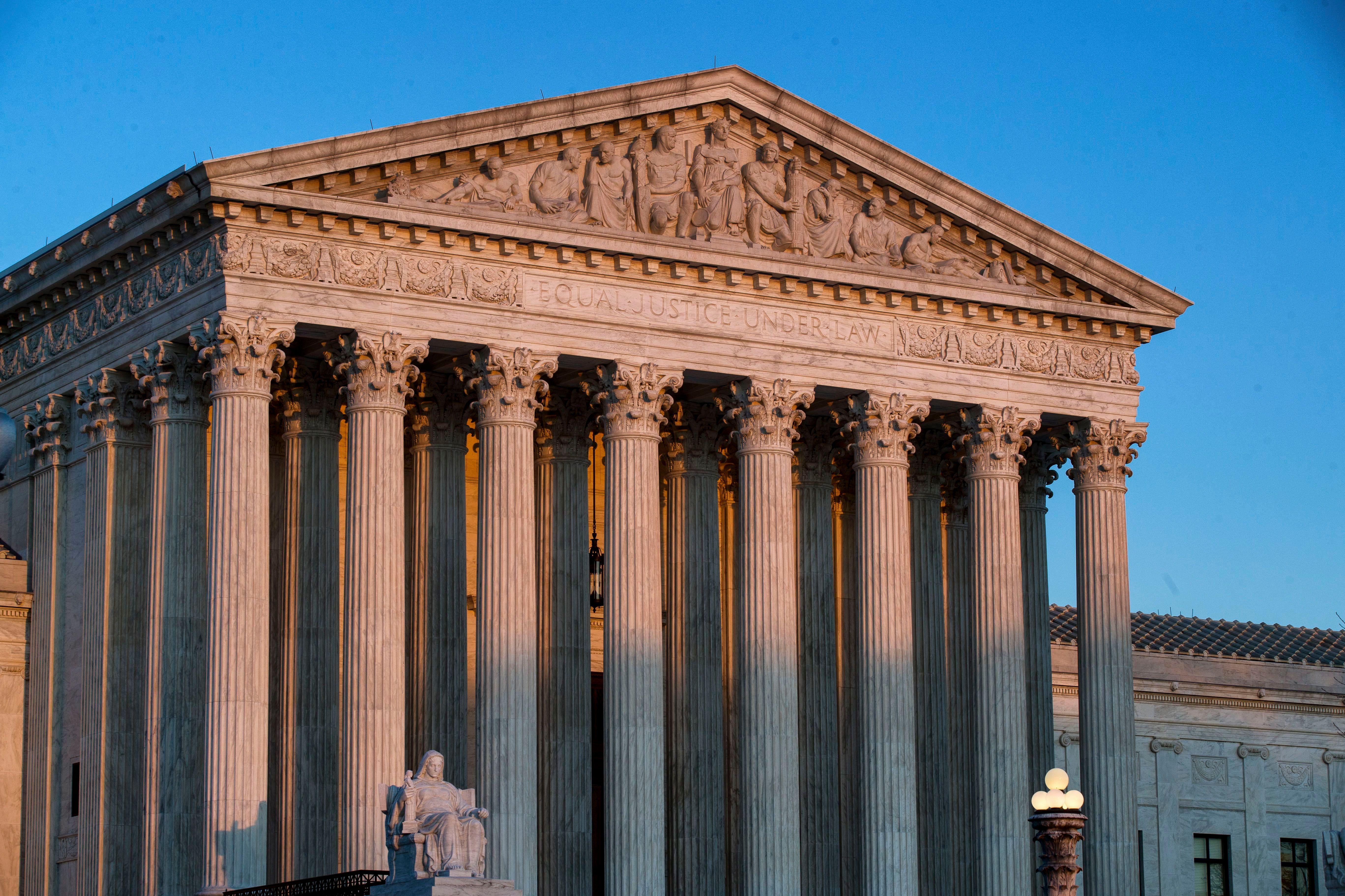 The U.S. Supreme Court is seen at sunset, in WashingtonSupreme Court, Washington, USA - 27 Mar 2019