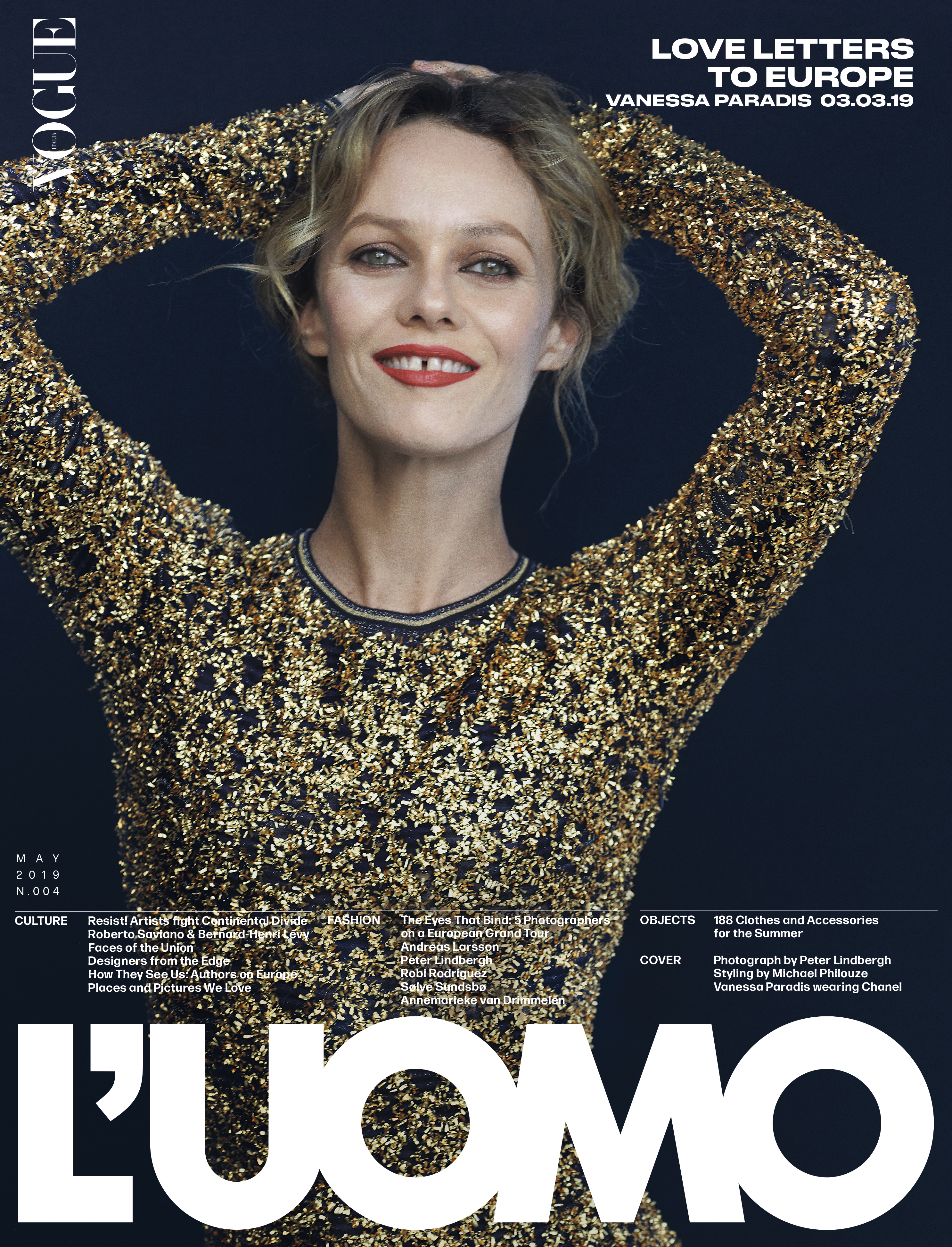 One of the seven covers of l'Uomo Vogue new issue dedicated to Europe