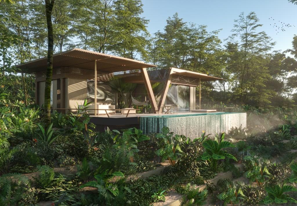 A rendering of the Zulia Luxury Living Lagoon Resort.