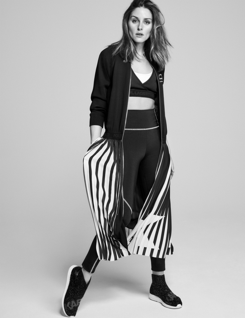Olivia Palermo in a look from her Karl Lagerfeld collaboration.