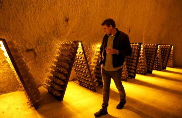 Jonathan Anderson at the House of Ruinart in Champagne, France