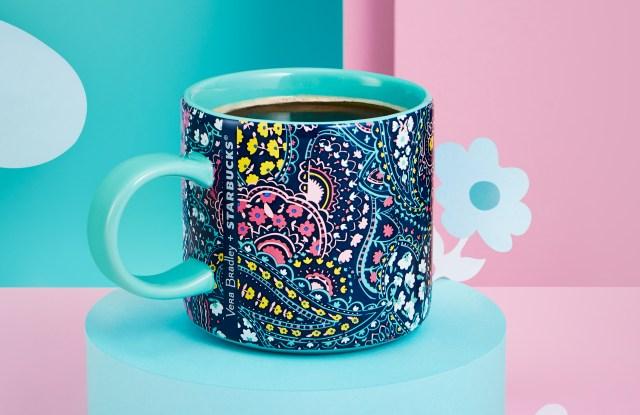 The Vera Bradley coffee mug for Starbucks in Asia.