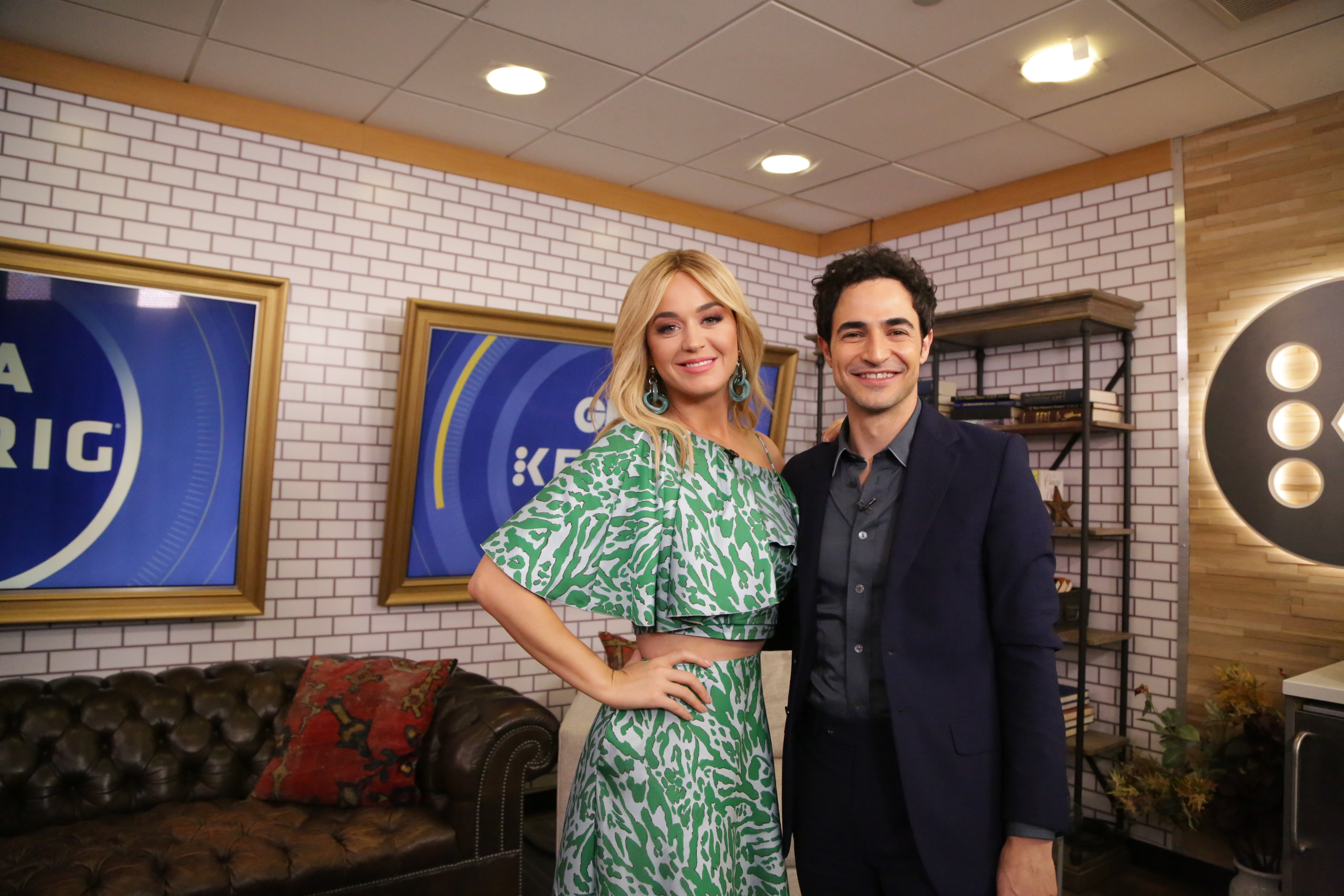 """Katy Perry and Zac Posen at ABC's """"Good Morning America."""""""