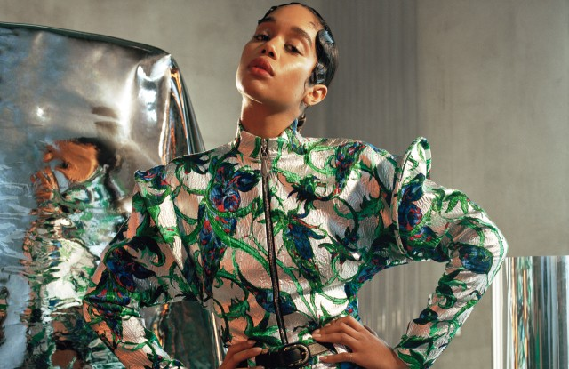 Laura Harrier on the cover of The September Issues