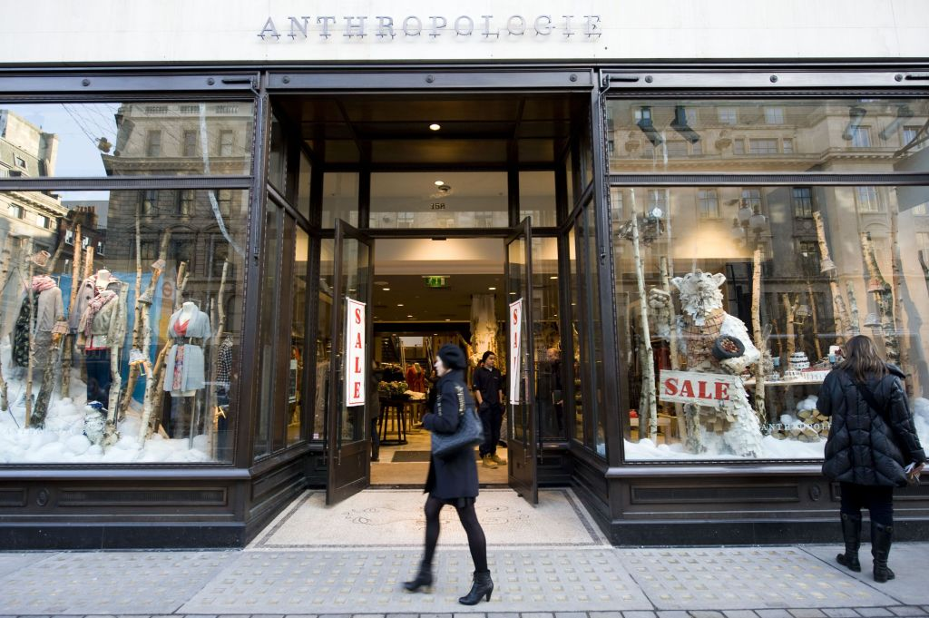 Sale at the Anthropologie storeStores bring forward the traditional January sales, London, Britain - 22 Dec 2009 Sales on London's Oxford Street and Regent Street
