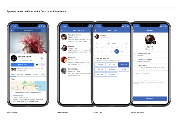Facebook offers mom-and-pop service businesses an easy way to book appointments through Facebook and Instagram.