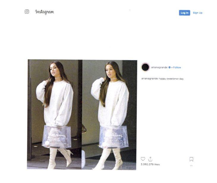Ariana Grande Sued Over Her Instagram Photos