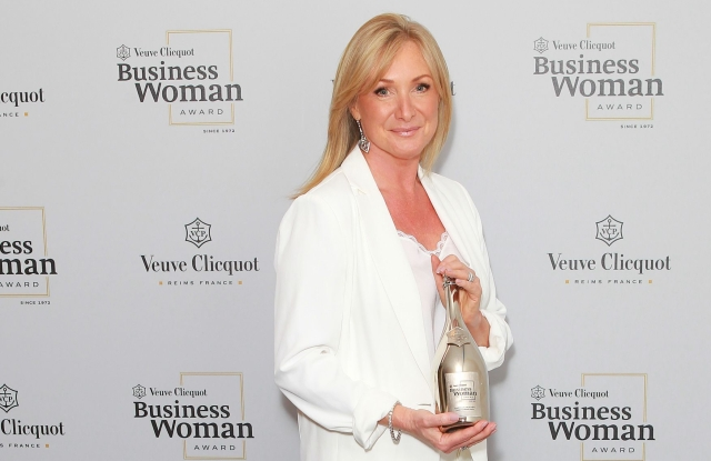 Chrissie Rucker, Founder of The White Company, at The Veuve Clicquot 2019 Business Woman Awards at The Design Museum