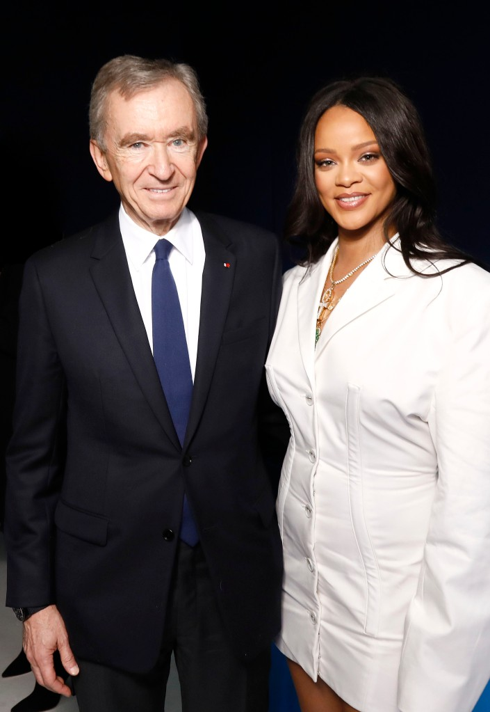 Bernard Arnault and Rihanna.