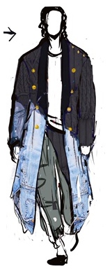 A sketch of the Paul&Shark by Greg Lauren collection