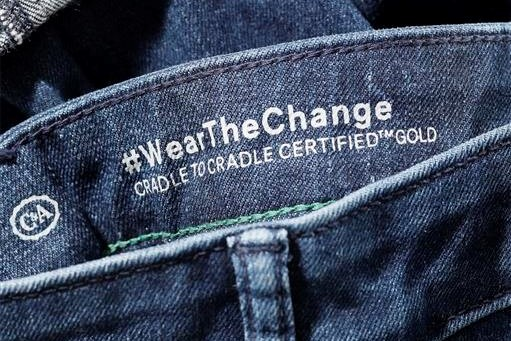 Jeans crafted from Roica Cradle to Cradle Gold Level certified denim.