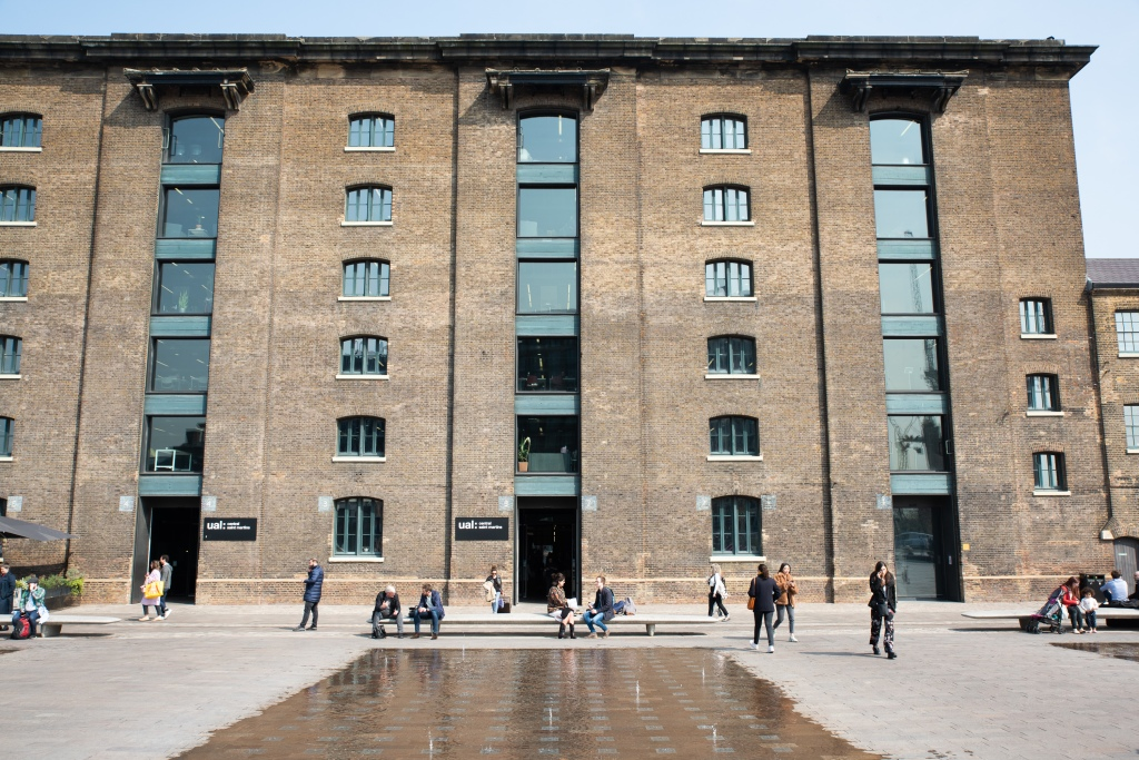The facade of Central Saint Martins in London.