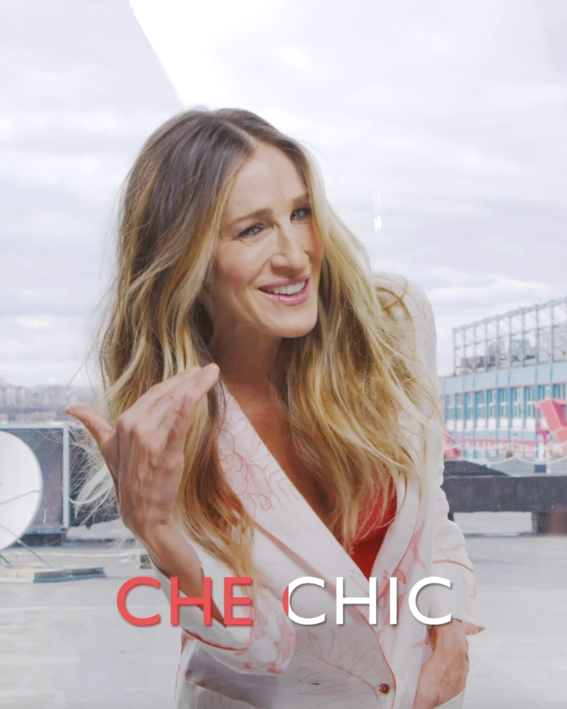 Sarah Jessica Parker appears in Intimissimi's digital short clips.