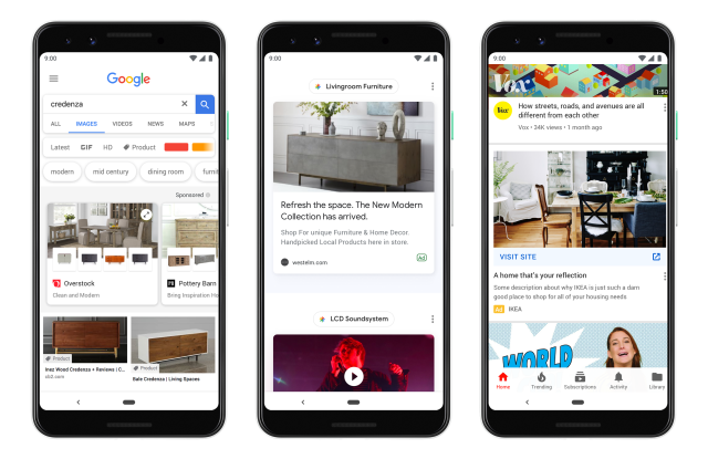 Google expands ads and revamps Google Shopping.