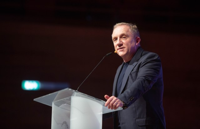 François-Henri Pinault giving the keynote speech at Copenhagen Fashion Summit